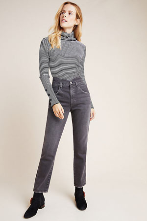 Gray tulip ultra high-rise cotton jeans