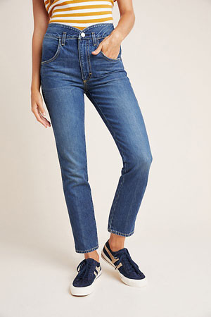 Tulip ultra high-rise cotton jeans