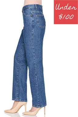 Wide leg all cotton straight leg jean