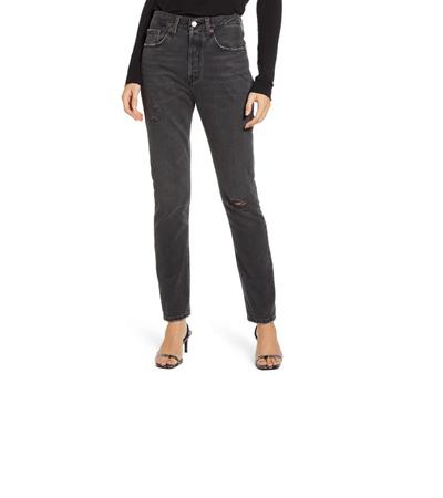 Black high waist skinny jeans with no stretch