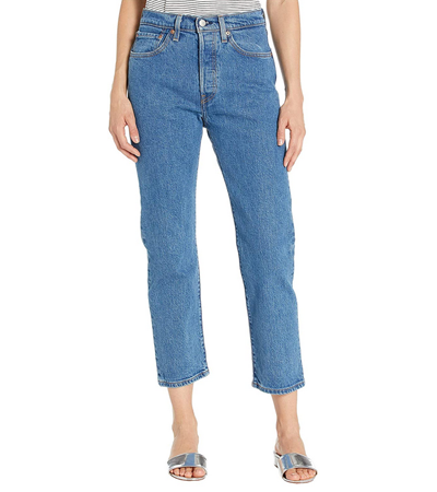 Cropped jeans that do not stretch out