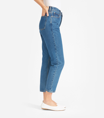 High-waisted cropped jeans in 100 percent cotton