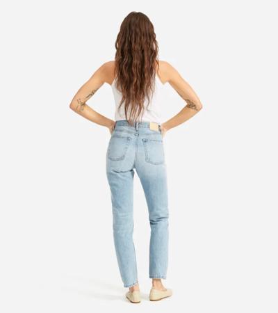 Rigid cotton non stretch jeans