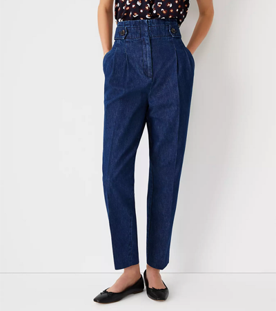 High rise 100% cotton jeans for women