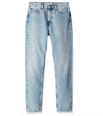 Rigid pure cotton jeans for women