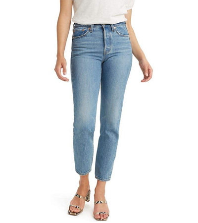 High rise all cotton jeans women