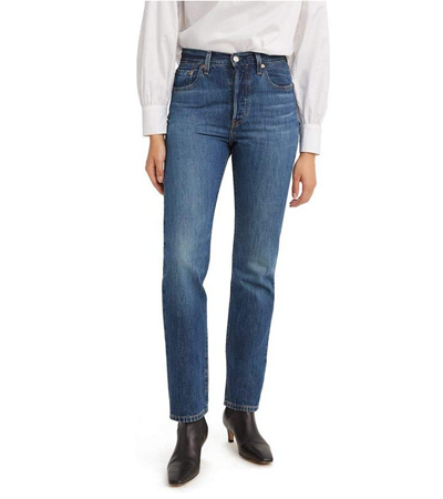 No stretch cotton jeans in medium wash