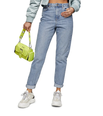 Nonstretch all cotton mom jeans
