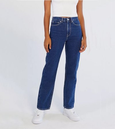 Relaxed rigid jeans in 100 cotton