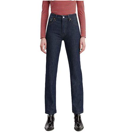 Rigid 100 cotton jeans in dark blue wash