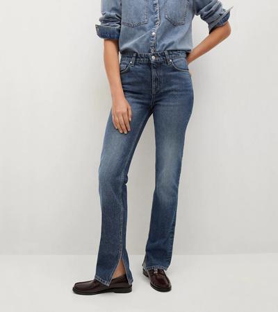 Cotton rigid denim jeans womens