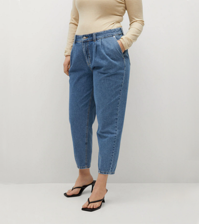 Jeans without elastane plus size